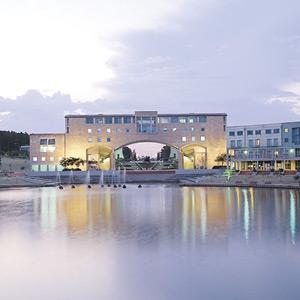 В совершенно новом кампусе в городе